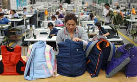 Armoured vests designed for children at the Miguel Caballero factory in Bogoto