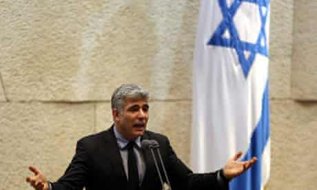 Yair Lapid in the Knesset