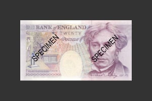Michael Faraday on the June 1991 £20 note