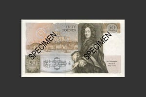 Sir Christopher Wren graced the £50 note from March 1981