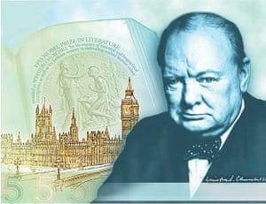 £5 Winston Churchill note