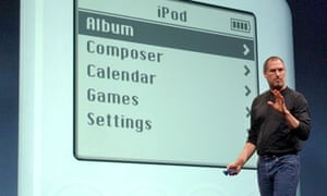 Steve Jobs launches Apples iTunes music store on 28 April 2003.
