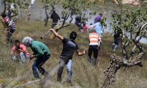 Israeli settlement clashes with Palestinians