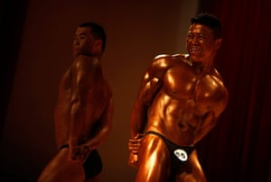 best of the week: Participants compete in a bodybuilding competition