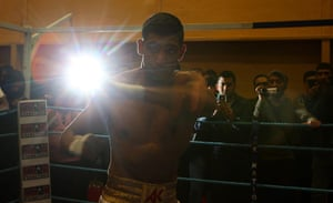 best of the week: Amir Khan during a work out ahead of his fight with Julio Diaz