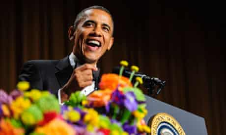 Barack Obama at the White House Correspondents' Association dinner