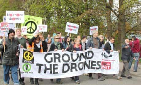 Drones protest in Lincolnshire