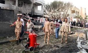French embassy in Libya after car bomb blast