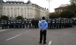 Protest against Spanish government
