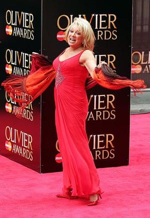 Laurence Olivier Awards: Elaine Paige arrives at the Olivier Awards 2013