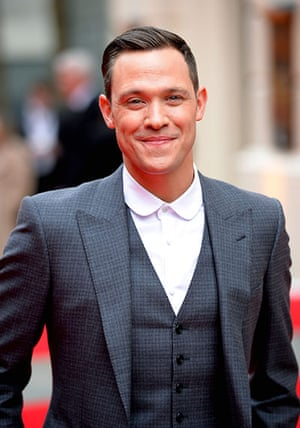 Lawrence Olivier Awards: British actor Will Young arrives for the Lawrence Olivier Awards