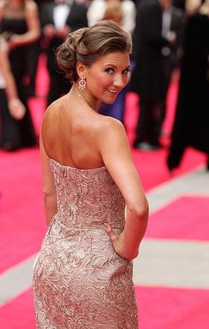 Laurence Olivier Awards: Summer Strallen arrives at the Olivier Awards 2013