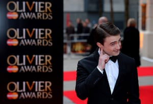 Laurence Olivier Awards: British actor Daniel Radcliffe arrives at the Royal Opera House