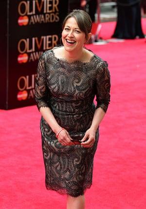 Laurence Olivier Awards: Nicola Walker arrives at the Royal Opera House