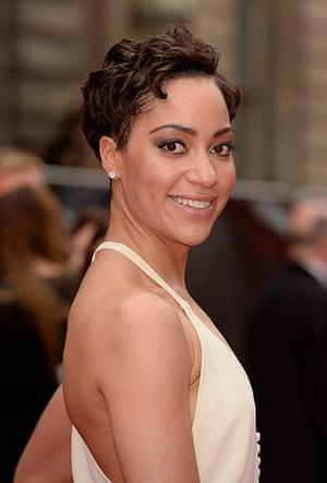 Lawrence Olivier Awards: Cush Jumbo on the red carpet at the Lawrence Olivier Awards