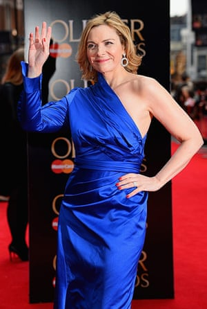 Lawrence Olivier Awards: Kim Cattrall attends The Laurence Olivier Awards
