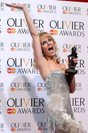 Laurence Olivier Awards: Leigh Zimmerman with her Best Performance in a Supporting Role in a Musical