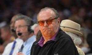 Jack Nicholson, LA Lakers vs San Antonio Spurs