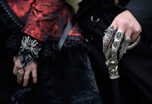 whitby goth festival: Goths accessories on show