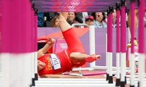 China's Liu Xiang first hurdle London 2012