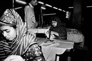 Bangladesh Factories: Girls sewing in a factory