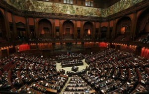 General view of the Lower house of the parliament in Rome, April 29, 2013.