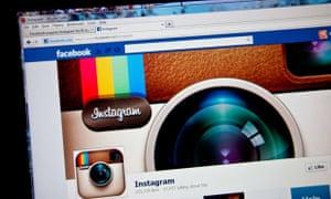 Instagram fan page seen on Facebook website