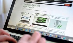 The universal credit website