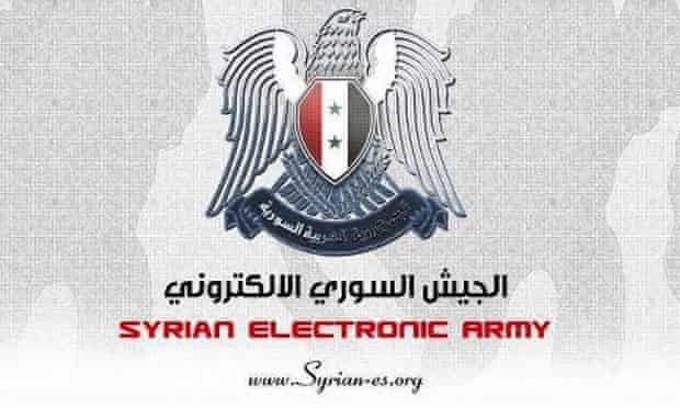 The logo of the Syrian Electronic Army, which claimed responsibility for the hack.