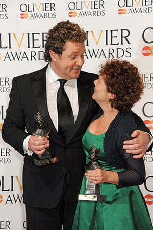 LOA2: Michael Ball and Imelda Staunton, winners of Best Actor and Actress in a Mu