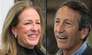 Elizabeth Colbert Busch and Mark Sanford take part in their first debate of the South Carolina congressional campaign.