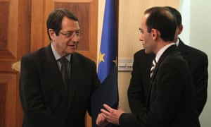 New Cypriot finance minister Harris Georgiades was sworn in this morning.