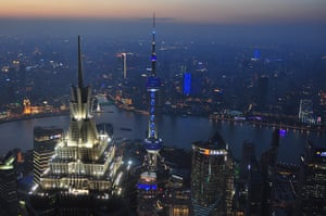 World Autism Day: The Oriental Pearl TV Tower in Shanghai, China