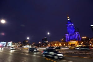 World Autism Day: The Palace of Culture and Science in Warsaw, Poland