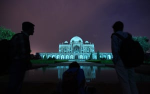 World Autism Day: Humayun's Tomb is lit up in New Delhi, India