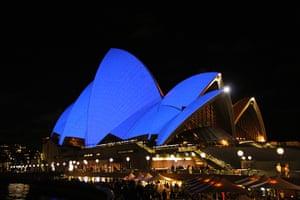 World Autism Day: The western sails of the Sydney Opera House, Australia