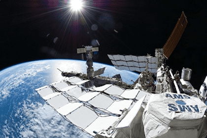 The AMS experiment on board the International Space Station.