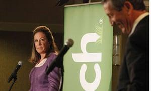 Elizabeth Colbert Busch and Mark Sanford in their South Carolina debate