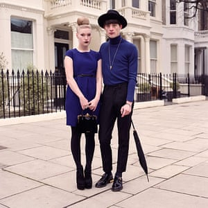 big pic - mods : mod couple dressed in purple standing in front of houses