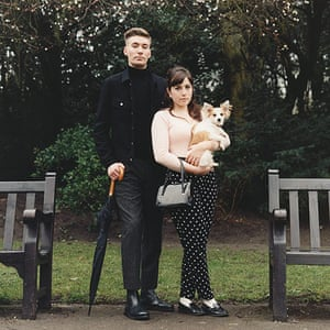 big pic - mods : mod couple standing in park with woman holding a dog