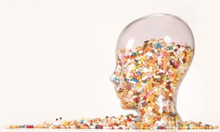 Pills glass head