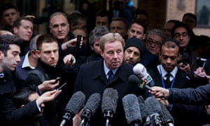 Harry Redknapp speaks to the press after being cleared of tax evasion, February 2012.