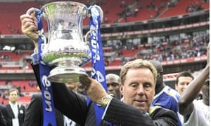 Harry Redknapp with the FA Cup after Portsmouth's victory in 2008.