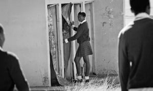 Eastern Cape Schools: A schoolgirl queues at the bathrooms at Nyangilizwe Senior Secondary School