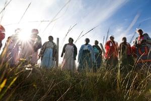 Eastern Cape Schools: Members of the Mthomb'etsitsa community thanked the Solidarity Visit
