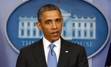 Obama speaks to media at White House