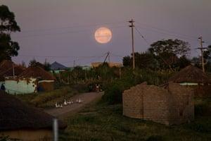 Eastern Cape Schools: The full moon rises over the village of Nomandla