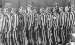 Not a good idea: prisoners in uniform from the 1920 film From Now On.