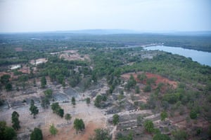 Greater Mekong: Dry farms near dam, Thailand