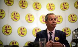 Nigel Farage campaigns in South Shields